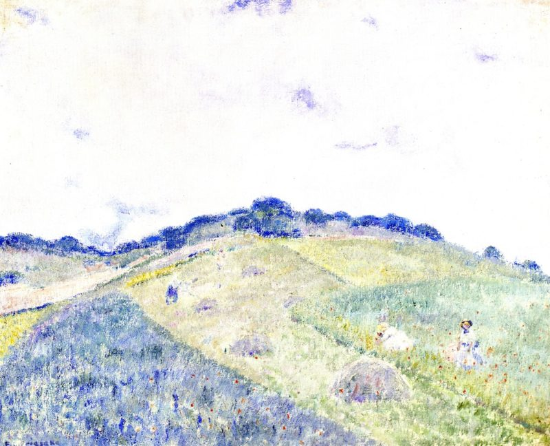 Hill at Giverny | Frederick C Frieseke | oil painting