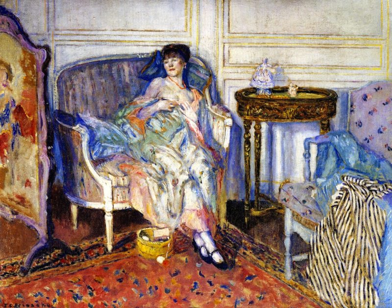 In the Boudoir | Frederick C Frieseke | oil painting