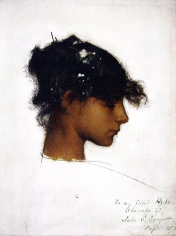 Head of Rosina | John Singer Sargent | oil painting