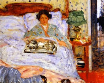 Lunch in Bed | Frederick C Frieseke | oil painting