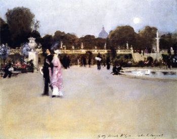 The Luxembourg Gardens at Twilight | John Singer Sargent | oil painting