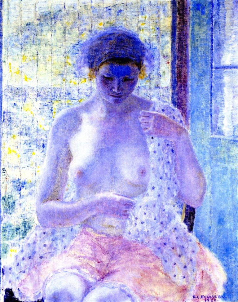 Nude in Window | Frederick C Frieseke | oil painting