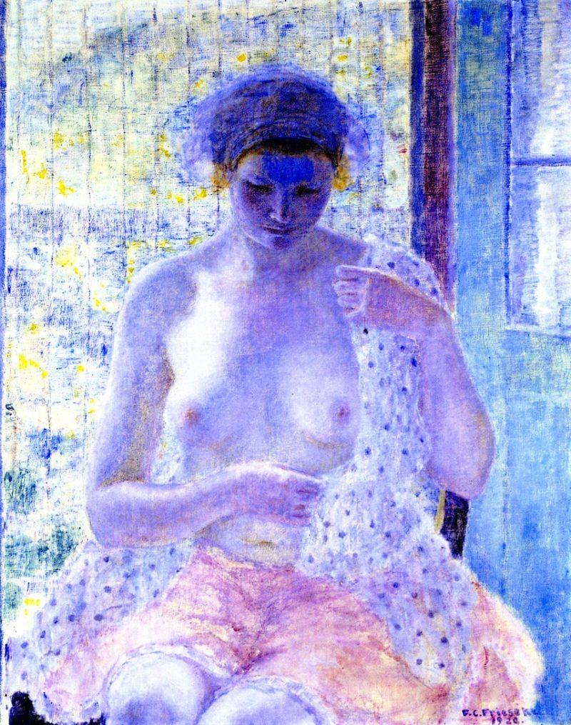 Nude in Window | Frederick C Frieseke | oil painting