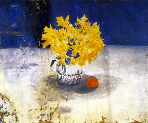 Daffodils in a Vase | John Singer Sargent | oil painting