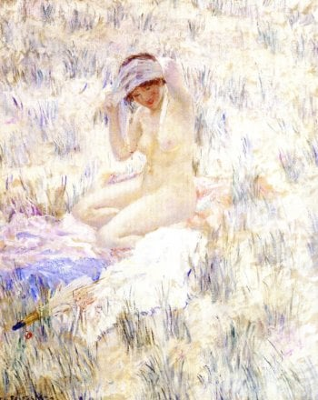 On the Dunes | Frederick C Frieseke | oil painting