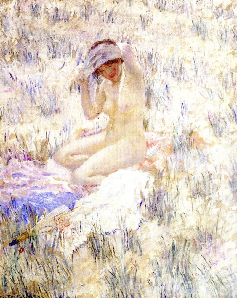 On the Dunes   Frederick C Frieseke   oil painting