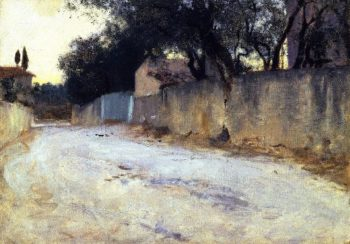 A Road in the South | John Singer Sargent | oil painting