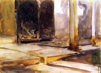 Alhambra Patio de los Leones | John Singer Sargent | oil painting