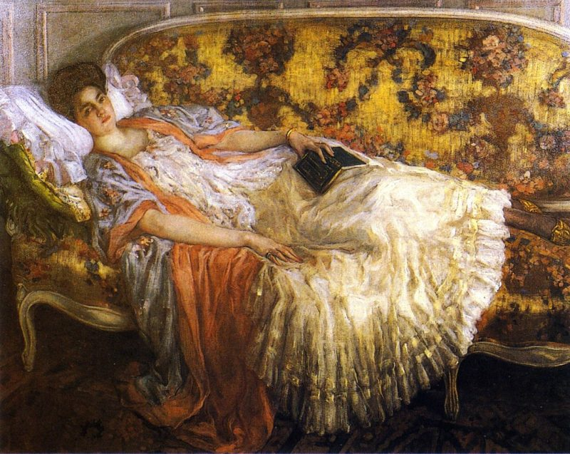 Rest | Frederick C Frieseke | oil painting