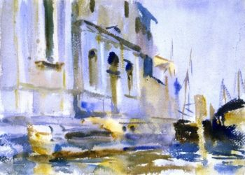 Zattere Spirito Santo and Scuola | John Singer Sargent | oil painting