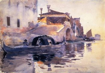 Ponte Panada Fondamenta Nuove | John Singer Sargent | oil painting