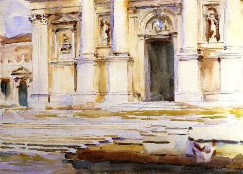 The Portal of San Giorgio Maggiore Venice | John Singer Sargent | oil painting