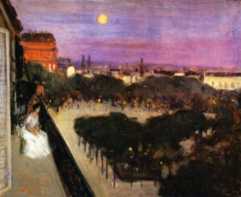 The Balcony | Frederick C Frieseke | oil painting