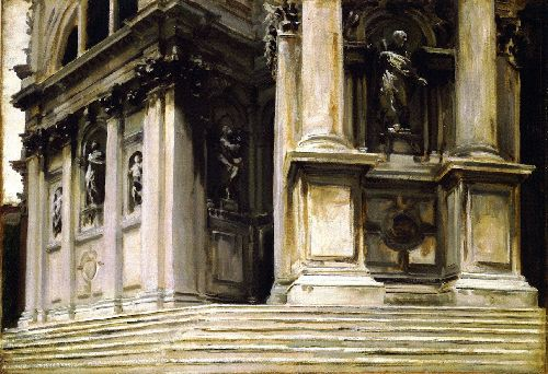 Entrance to Santa Maria della Salute | John Singer Sargent | oil painting