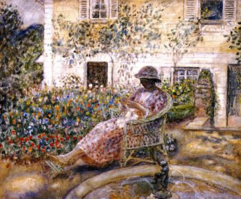 The Fountain | Frederick C Frieseke | oil painting