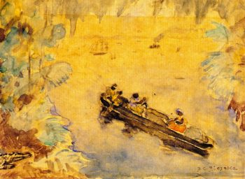 The Pirogue | Frederick C Frieseke | oil painting