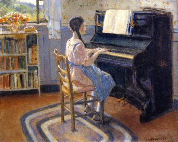 The Practice Hour | Frederick C Frieseke | oil painting