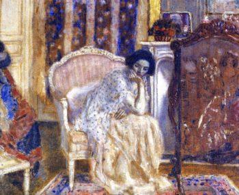 Woman in Boudoir | Frederick C Frieseke | oil painting