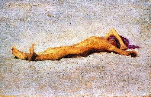 Boy on the Beach | John Singer Sargent | oil painting