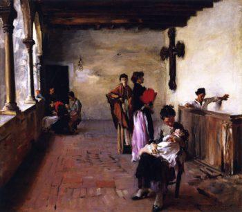 Venetian Loggia | John Singer Sargent | oil painting