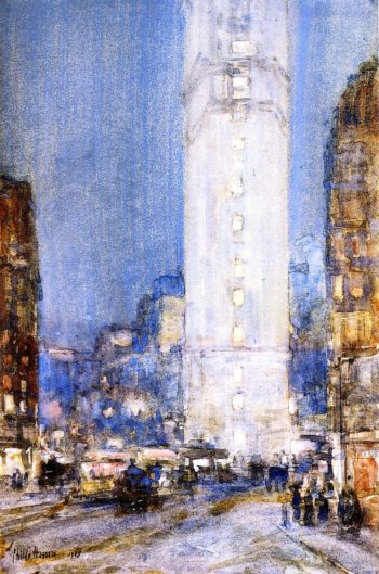 Times Square | Frederick Childe Hassam | oil painting