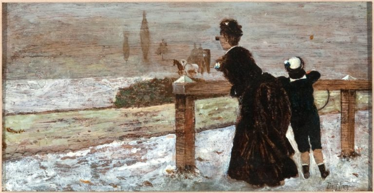 Alle Corse   Giuseppe de Nittis   oil painting