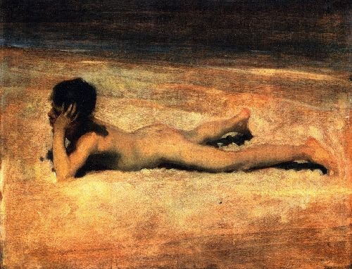 A Nude Boy on a Beach | John Singer Sargent | oil painting