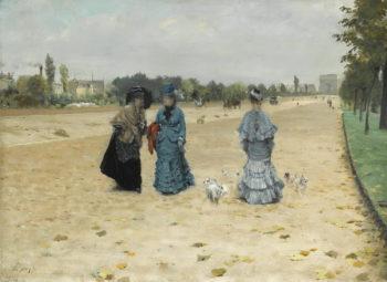 Avenue du Bois at Boulogne | Giuseppe de Nittis | oil painting