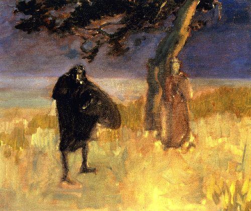 A Shakespearean Scene   John Singer Sargent   oil painting