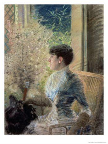 Bow Window | Giuseppe de Nittis | oil painting