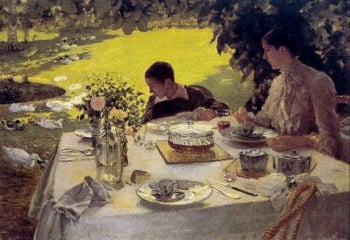 Colazione in giardino | Giuseppe de Nittis | oil painting