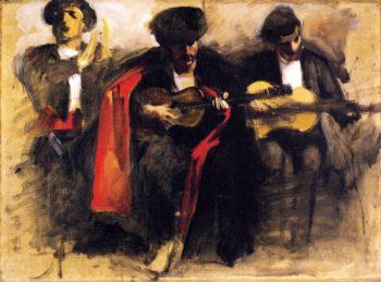 Study for Seated Musicians El Jaleo | John Singer Sargent | oil painting