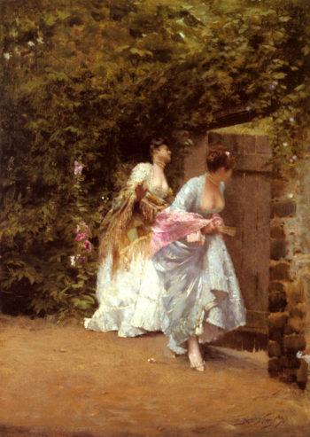 Il Ritorno Dal Ballo | Giuseppe de Nittis | oil painting