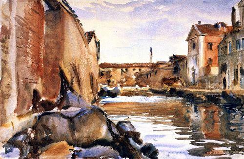 Giudecca   John Singer Sargent   oil painting