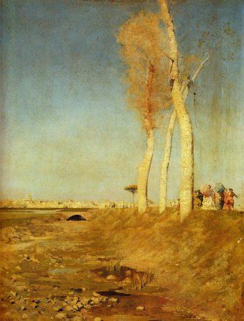 I Pioppi | Giuseppe de Nittis | oil painting