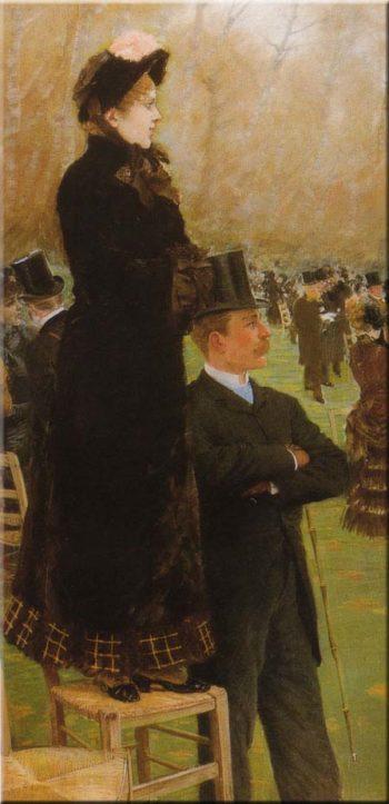 Le corse a Auteuil | Giuseppe de Nittis | oil painting