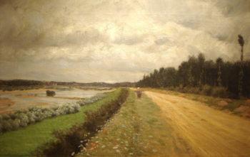 Lungo l'Ofanto | Giuseppe de Nittis | oil painting