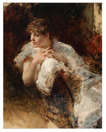 Portrait of Signora Napoletana | Giuseppe de Nittis | oil painting