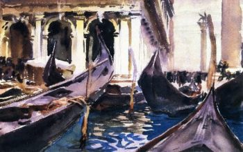 The Piazzetta Venice | John Singer Sargent | oil painting