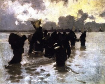 Oyster Gatherers Returning | John Singer Sargent | oil painting