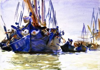 Sailing Vessels at Anchor | John Singer Sargent | oil painting