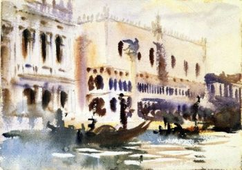 From the Gondola | John Singer Sargent | oil painting