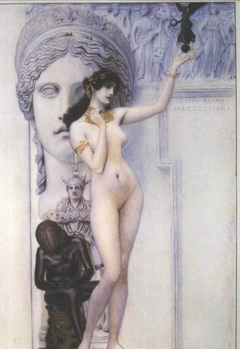 Allegory of Sculpture | Gustav Klimt | oil painting