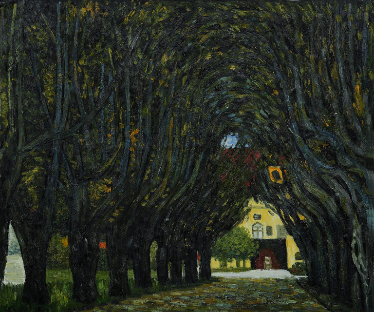 Avenue in Schloss Kammer Park | Gustav Klimt | oil painting