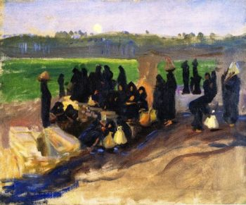 Water Carriers on the Nile | John Singer Sargent | oil painting