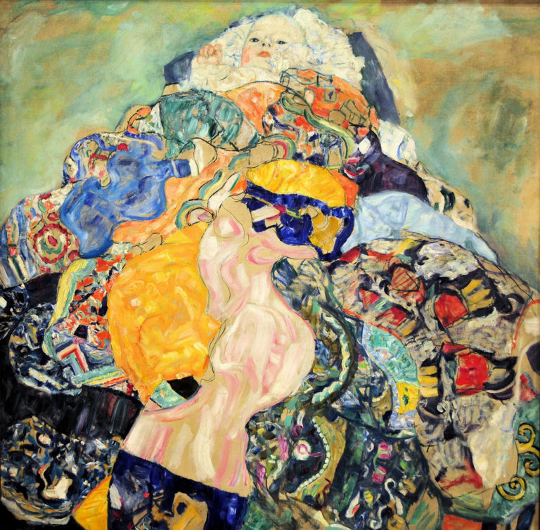 Baby   Gustav Klimt   oil painting