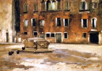 Campo Sant' Agnese Venice | John Singer Sargent | oil painting