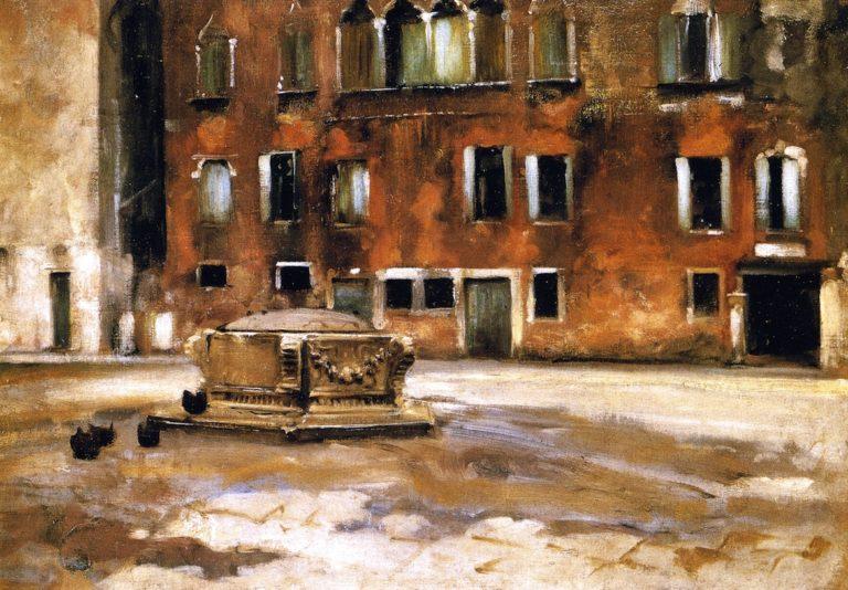 Campo Sant' Agnese Venice   John Singer Sargent   oil painting