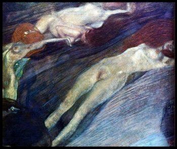 Bewegte Wasser | Gustav Klimt | oil painting