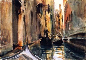 Rio de San Salvatore Venice | John Singer Sargent | oil painting